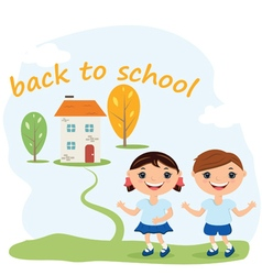 Back to school concept background vector image vector image