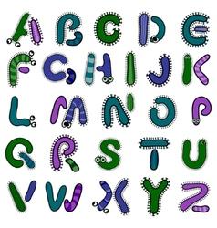 bacterium alphabet vector image vector image