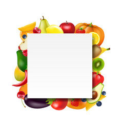 banner with fruits and vegetables vector image