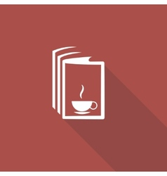 Book and a cup of tea icon vector image