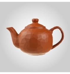 brown teapot on gray background Tea symbol vector image