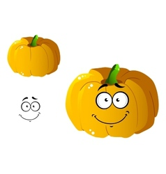 Cartoon pumpkin vegetable vector