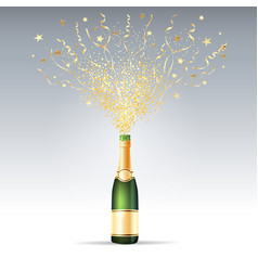 Champagne confetti party vector