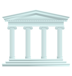 Classical antique greek palace vector