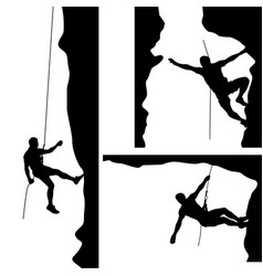 Climber in rocks 02 vector