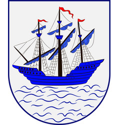 Coat of arms of helsingoer is a municipality in vector