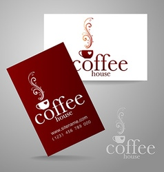 coffee logo card vector image