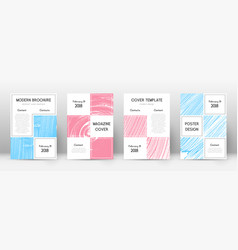 cover page design template business brochure layo vector image