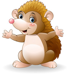 cute hedgehog cartoon vector image
