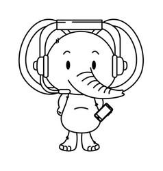 Cute little elephant character vector
