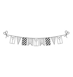 Decorations bunting flags for djibouti national vector