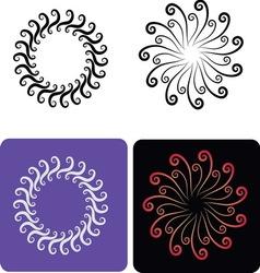 Decorative flowers 6 vector image