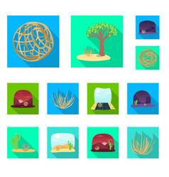 design landscape and nature icon vector image