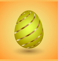 easter egg with gold stripes vector image
