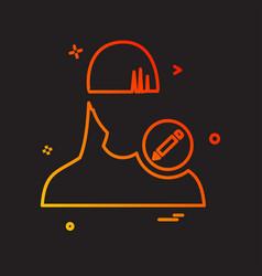 edit user icon design vector image