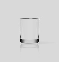 empty glass cup isolated vector image
