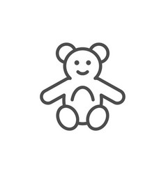 fluffy toy line icon vector image