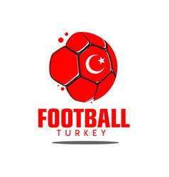 Football turkey logo template design vector