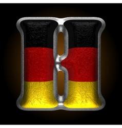 Germany metal figure h vector