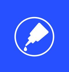 Glue icon in circle vector