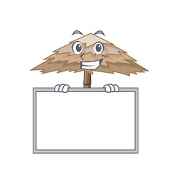 Grinning with board beach shelter buildings vector