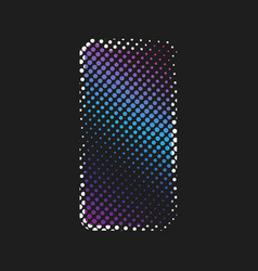 halftone smart phone vector image