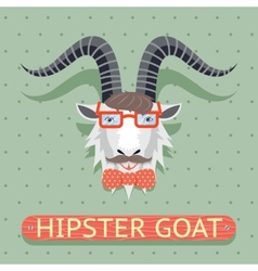 Hipster goat sign vector image