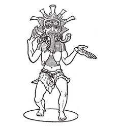 kali hindu goddess vintage vector image