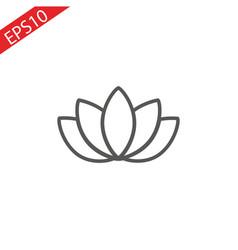 lotos line icon vector image