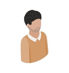 Man in pullover icon isometric 3d style vector