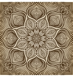 mandala brown circular pattern background vector image