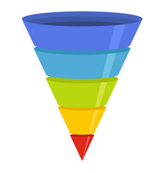 Marketing funnel icon flat style vector