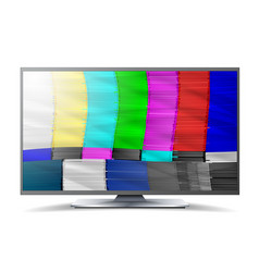 No signal tv descendant network rainbow bars vector