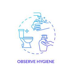 Observe hygiene blue concept icon virus infection vector