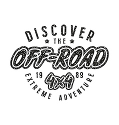 Off road racing emblem in retro style vector