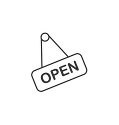 open shop line icon simple modern flat for mobile vector image
