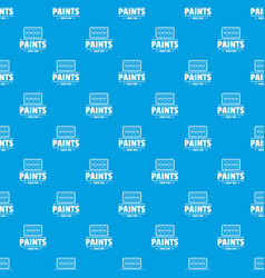 paint tool pattern seamless blue vector image