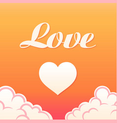 paradise romantic for vector image