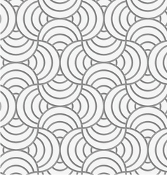 Perforated striped circle pin will vector