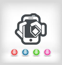 Phone card icon vector
