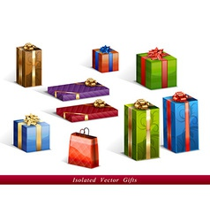 presents isolated vector image vector image