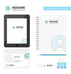 profile business logo tab app diary pvc employee vector image