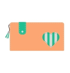 Purse wallet isolated vector