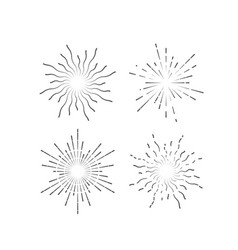 radial light rays or sunbeams vector image
