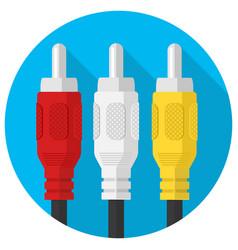 Rca three cable plug vector