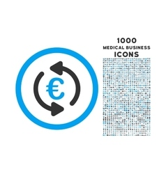 Refresh Euro Rounded Icon with 1000 Bonus Icons vector image