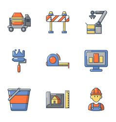 Replacement icons set cartoon style vector