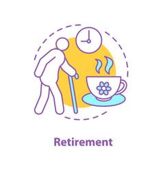 Retirement concept icon vector