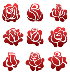 Rose symbol set vector image