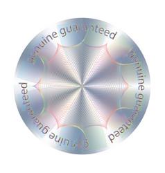 Round hologram sticker vector